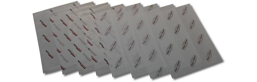 papier powlekany z nadrukiem